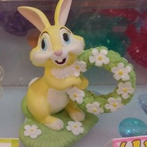 Disney Miss Bunny Ring Holder Flower Wreath Jewelry Stand Pottery Figure  - $58.41