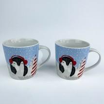 2 Starbucks Holiday Christmas Penguin Coffee Cups Mugs 10 oz. - $34.65