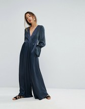 New Free People Not Your Baby Jumpsuit LONG SLEEVE Size 4, 6 CARBON $168 - $74.00