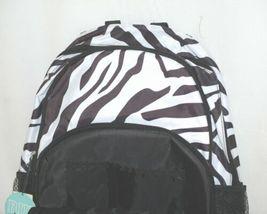 Room It Up Product Number TCDB6219 Black White Zebra Print Backpack image 3