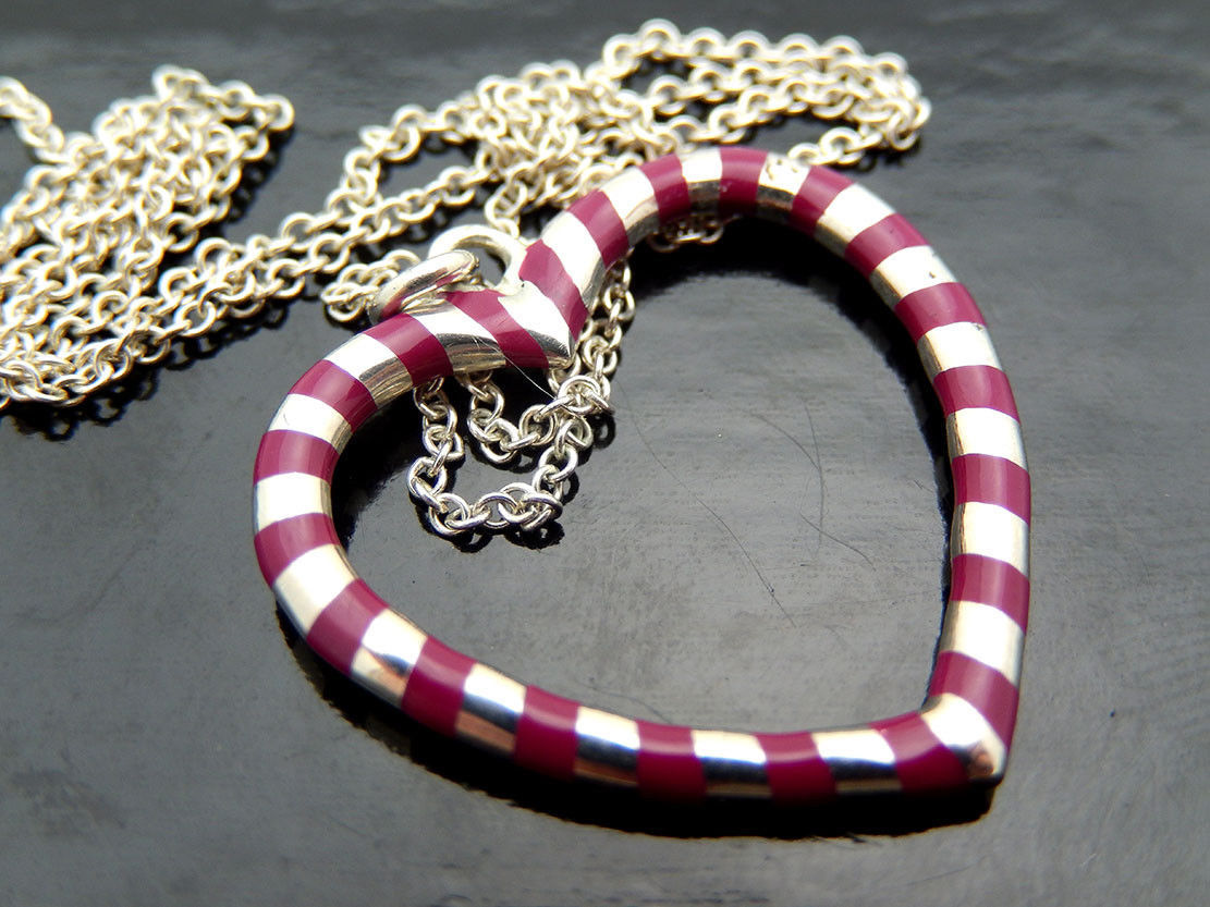 7947af64f Tiffany Picasso RED ENAMEL Heart Necklace in Sterling Silver, 18in - $200.00