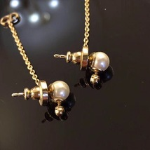 "Authentic Christian Dior ""LA PETITE TRIBALE"" EARRINGS Pearl Dangle Star image 10"