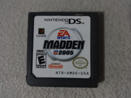 EUC Madden 2005 Nintendo DS Video Game Cartridge Only Free Ship - $9.89