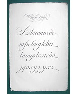 "1826 PENMANSHIP Calligraphy Composite - 12"" x 18"" (30 x 46 cm) Superb Pr... - $30.34"