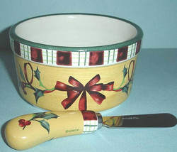 Lenox Winter Greetings Everyday Dip Bowl & Spreader 2 Piece Set New In Box - $52.90