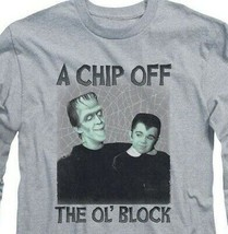 The Munsters t-shirt retro Chip Off the Ol' Block long sleeve gray tee NBC908 image 2