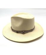 6 3/4 -54  6X  XXXXXX Straw Shantung Cowboy Western Beaver Hats USA EUC - $34.65