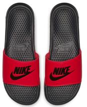 Nike Mens Benassi Just Do It Slides Sandals Red Orbit/Black Size 17 NWT - $37.82