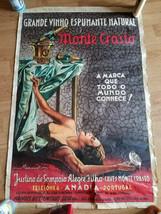 "RARE Vintage MONTE CRASTO Grande Vinho Espumante Natural Poster 23.5"" x 35"" - $49.99"