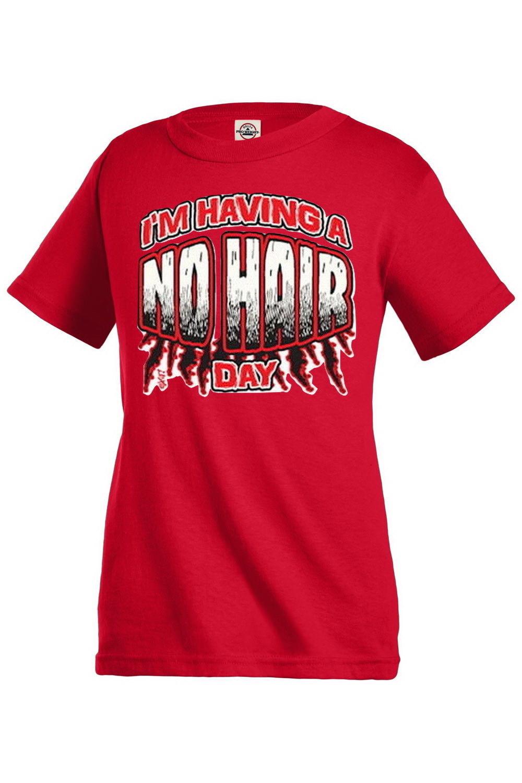 I'm having a no hair day Funny Boys Girls Kids T shirt Youth tee KP311