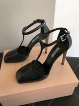New AUTH Prada T- Strap Black / Silver Heel EU SZ 39 $795 - $169.74