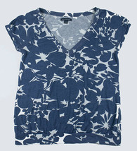 American Eagle Outfitters Womens Size Medium Top Blue Floral Print Flowers - $9.89