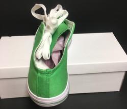 Custom School Kicks Canvas Tennis Shoes Unisex 10/11.5 Lime Green NIB image 5