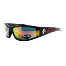 Choppers Sunglasses Motorcycle Wrap Around Biker Shades Color Flames Design - $9.95