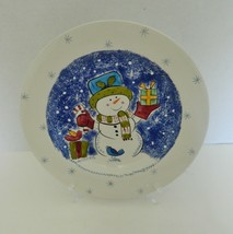 Studio Nova Mikasa Frosty Snowman Luncheon Plate One KT405 - $8.93
