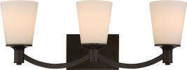 "Laguna Aged Bronze White Glass Wall Light 24""Wx9""H - $119.99"
