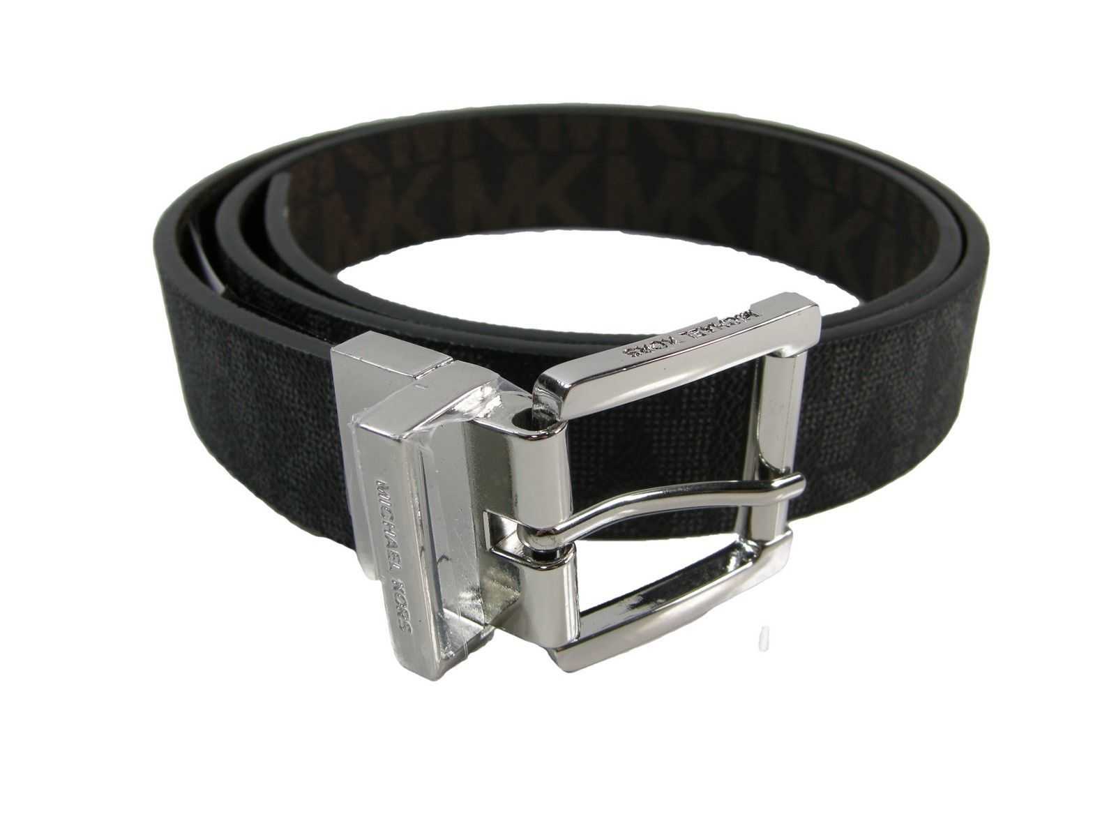 250b07fe4 Michael Kors MK Logo Belt Black Silver and 38 similar items. S l1600