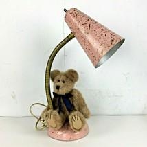 Pink Splatter Metal Lamp Gooseneck Table Desk Mid Century MCM Vtg Tested... - $207.89