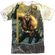 JLA Justice League of America Aquaman Good Vs Evil Sublimation ALL Front T-shirt - $26.99+