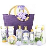 Spa Body Care Set for Women, Lavender Bath Gift Basket, 10 Pcs - $50.00