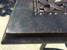 """Patio end table 24"""" square outdoor cast aluminum accent pool side furniture. image 2"""