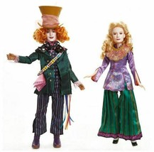 Disney Alice Through The Looking Glass Alice and Mad Hatter Doll 2-Pack ... - $120.00