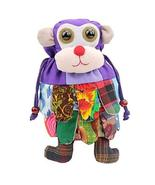 Folk-custom Handmade Monkey Style Shoulder Bag, School Bag for Kids,Purple - $17.71