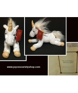 "Plush Stuffed Unicorn White & Gold 10"" x 12"" - $11.99"