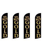 We Buy Gold (Black) King Size Windless Flag Pack of 4 (Hardware Not Incl... - $59.39