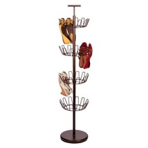 4 Tier Bronze Shoe Tree Home Storage Closet Org... - $48.99