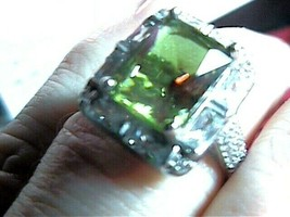 RING 7.5 SILVER RUSSIAN ALEXANDRITE COLOR CHANGE 925 sterling emerald cut   - $90.05
