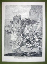 ALBANIA Chasing Poachers in Limestone Mountains - VICTORIAN Era Print - $16.19
