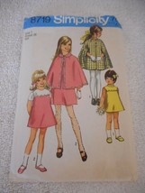 Vintage 1970s Simplicity Size 7 8719 cut cape and dress pattern bust 26 - $13.85