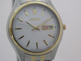 Seiko men watch 7N42 casual stainless steel SGGa14 - $116.82