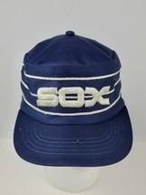 Vintage White Sox Pillbox snap back hat blue / white lines Size Large 7 ... - $121.54