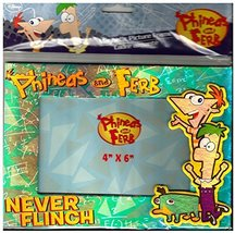 """Disney Phineas & Ferb Never Flinch Magnetic Picture Photo 4""""x 6"""" Frame - $3.33"""