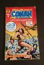 Stan Lee Presents Conan The Barbarian #1 Paperback Book 1978 Full Color ... - $25.00