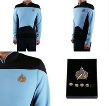 Star Trek TNG Cosplay Costume Blue Shirt Starfleet Science Uniforms + Ba... - $33.49+
