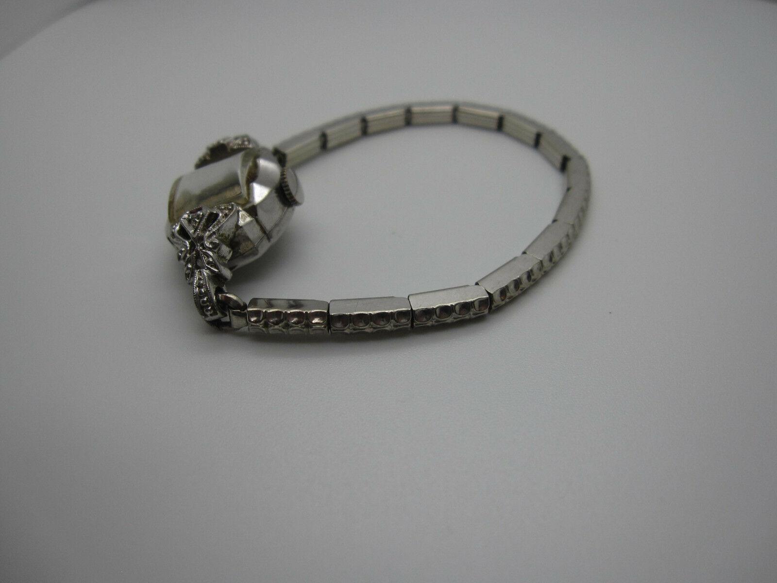 Vintage Women's Hallmark 25 Jewels 10k Rolled Gold Plated Hand Wind Watch image 10