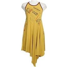 FREE PEOPLE Yellow Batter Up Asymmetrical Cotton Jersey Mini Dress M - $69.99