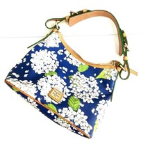 Dooney & Bourke Blue & White Hydrangea Print Lucy Hobo Shoulder Bag - $79.19