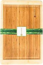 Bamboo Cutting Board Large End Grooves Chopping Wood Kitchen Butcher Block - £27.58 GBP