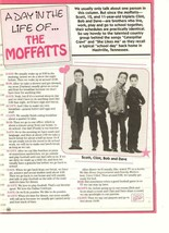 Moffatts teen magazine pinup clippings day in the life of the Moffatts y... - $1.50