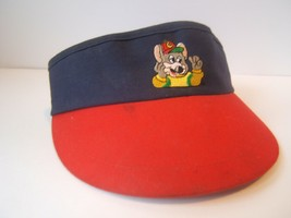 Chuck E Cheese Work Visor Vintage Adjustable Red Blue Hat Cap - $30.74