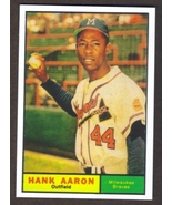 HANK AARON Card RP #415 Braves 1961 T Free Shipping - $2.95