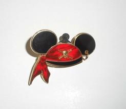 Walt Disney 2006 Mickey Mouse Orejas Tesoro Isla Pin de Sombrero con / Dorado - $30.73