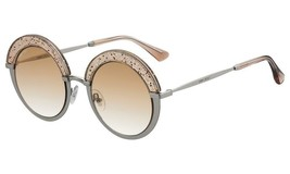 Jimmy Choo Gotha/S KON HA Silver/ Nude Gold Glitter Fashion Round Sunglasses - $256.83