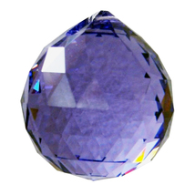 Swarovksi Crystal Faceted Ball Prism image 6