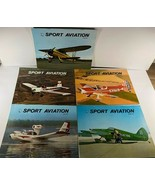 Vintage 5 issues SPORT AVIATION  Monthly Magazine 1972 - $19.79