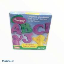 Vintage Playskool Barney Magnetic Letter Refridgerator Alphabet Braille - $39.59